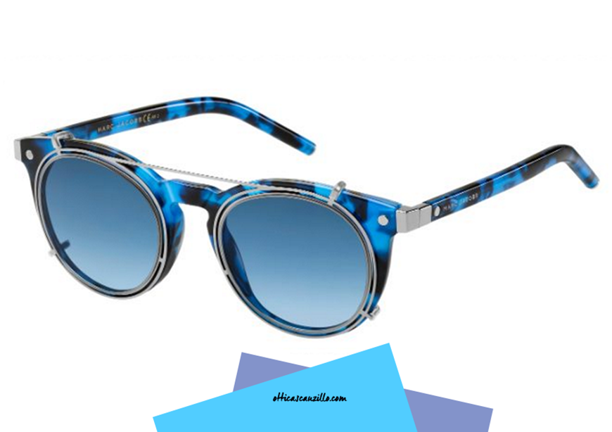 Marc by Marc Jacobs Black & Blue Round
