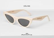 acquisto online Occhiale da sole a punta CELINE 40019U col. bianco  su otticascauzillo.com