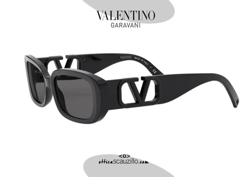 shop online New narrow oval sunglasses Valentino VA4067 col. 500187 black otticascauzillo acquisto online nuovo occhiale da sole ovale stretto Valentino VA4067 col. 500187 nero