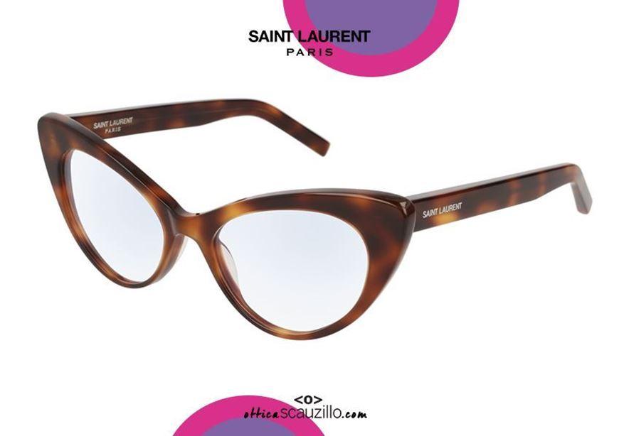 shop online new Cat eye vintage eyeglasses SAINT LAURENT SL217 col. 002 havana brown otticascauzillo.com acquisto online nuovo Occhiale da vista cat eye SAINT LAURENT SL217 col.002 marrone havana