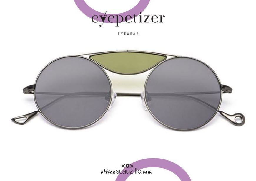 shop online Round metal sunglasses with 3 lenses EYEPETIZER John col. C317 gray otticascauzillo.com acquisto online Occhiale da sole tondo metallo con 3 lenti EYEPETIZER John col.C317 grigio