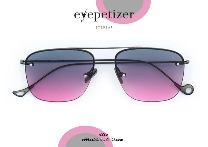 shop online Square rimless sunglasses EYEPETIZER Palmer col.C320 gray pink otticascauzillo.com acquisto online Occhiale da sole senza montatura squadrato EYEPETIZER Palmer col.C320 grigio sfumato rosa