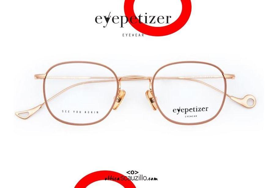 shop online Metal rimmed eyeglasses EYEPETIZER Thierry col.C9E pink gold otticascauzillo.com acquisto online nuovo Occhiale da vista in metallo cerchiato tondo EYEPETIZER Thierry col.C9E oro rosa