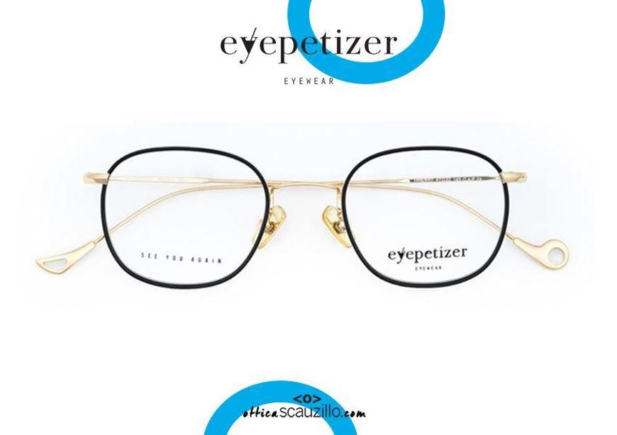 shop online Metal rimmed eyeglasses EYEPETIZER Thierry col.C4F gold and black otticascauzillo.com acquisto online Occhiale da vista in metallo cerchiato EYEPETIZER Thierry col.C4F oro e nero