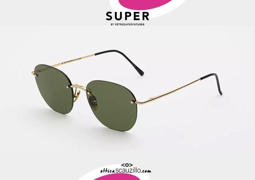 shop online Rimless sunglasses RETRO SUPER FUTURE LOU gold otticascauzillo.com acquisto online Occhiale da sole senza montatura RETRO SUPER FUTURE LOU verde oro
