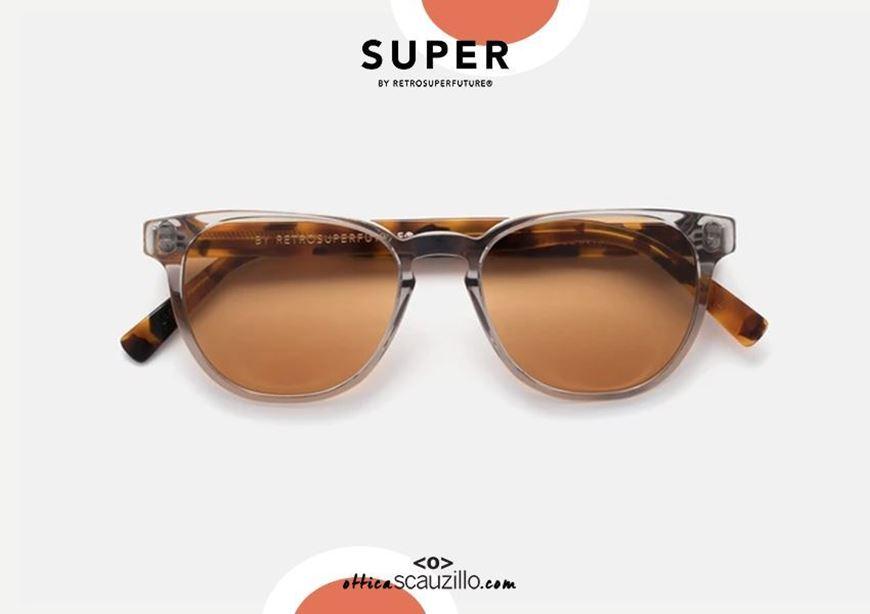 shop online RETRO SUPER FUTURE Vero Neoclassic sunglasses transparent gray and brown havana otticascauzillo.com acquisto online nuovo Occhiale da sole RETRO SUPER FUTURE Vero Neoclassic grigio trasparente e havana marrone
