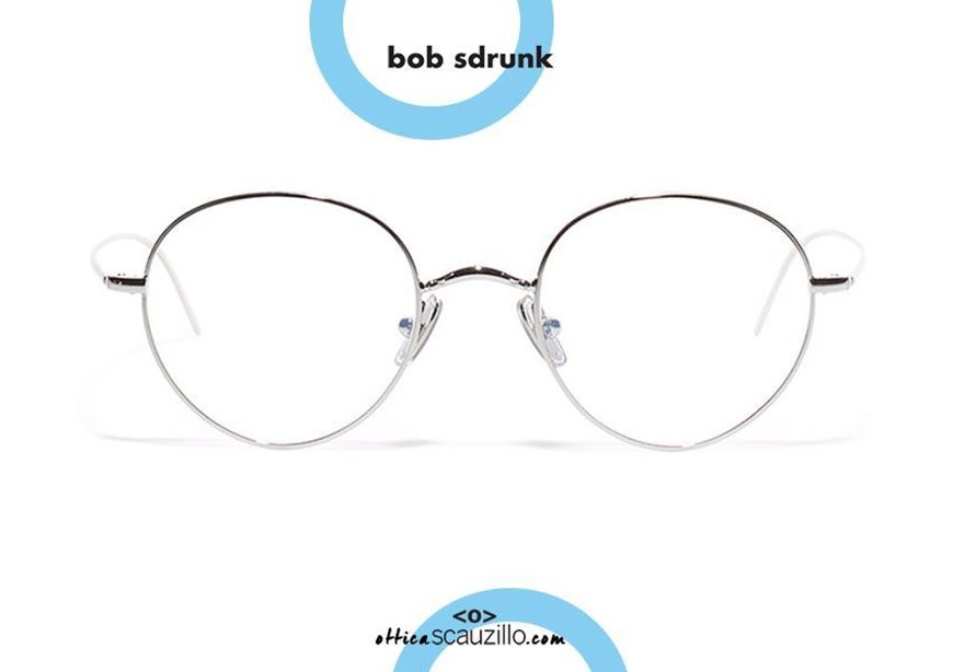 shop online Round metal eyeglasses BOB SDRUNK Jung col. silver otticascauzillo.com acquisto online Occhiale da vista in metallo tondo BOB SDRUNK Jung col. argento