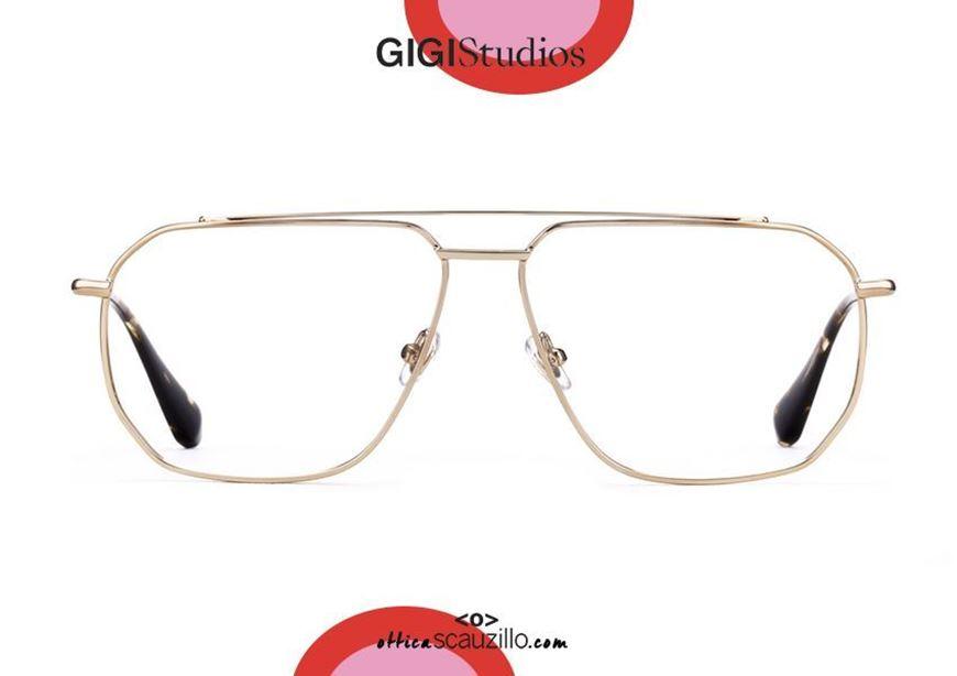 shop online GIGI Studios GORDON 64255 gold oversized aviator eyeglasses otticascauzillo.com acquisto online nuovo Occhiale da vista aviator oversize GIGI Studios GORDON 6425/5 oro