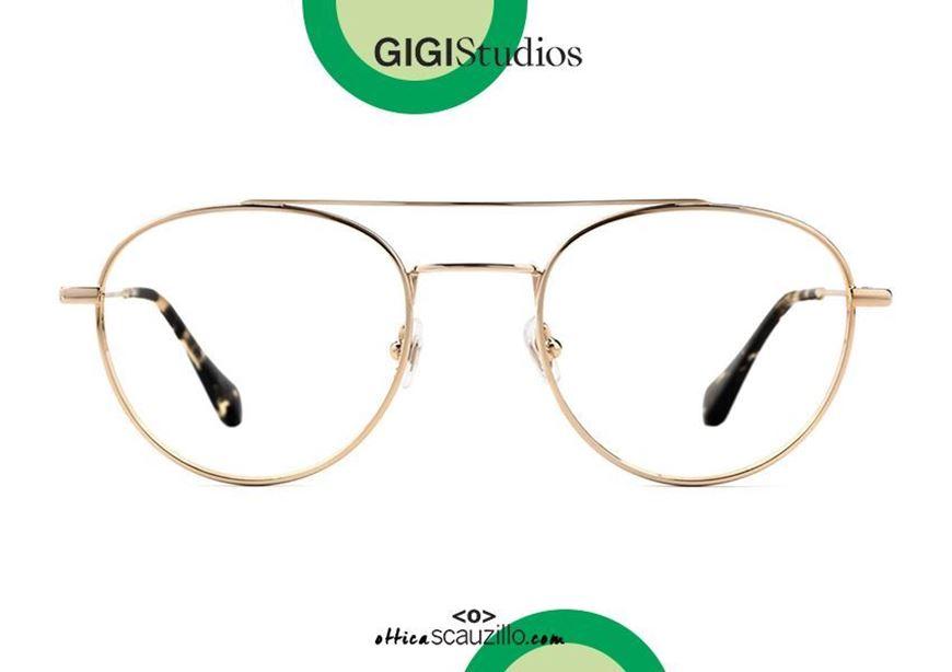shop online Round double bridge eyeglasses GIGI Studios OCEAN 64495 gold otticascauzillo.com acquisto online nuovo Occhiale da vista tondo doppio ponte GIGI Studios OCEAN 6449/5 oro