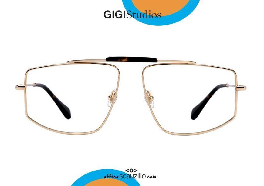 shop online Squared double bridge eyeglasses GIGI Studios DAVID 64755 gold otticascauzillo.com acquisto online Occhiale da vista squadrato doppio ponte GIGI Studios DAVID 6475/5 oro