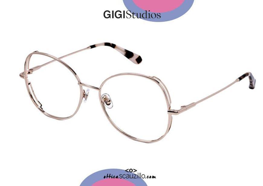 shop online Oversized butterfly metal eyeglasses GIGI Studios KEREN 6436 pink gold otticascauzillo.com acquisto online Occhiale da vista metallo farfalla oversize GIGI Studios KEREN 6436/6 oro rosa