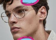 shop online new Oversized metal aviator eyeglasses GIGI Studios WAYNE 6438 gold and black otticascauzillo.com acquisto online Occhiale da vista metallo aviator oversize GIGI Studios WAYNE 6438/1 oro e nero