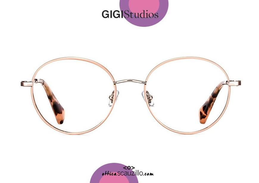 shop online Oversized round metal eyeglasses GIGI Studios PARIS 6369 pink otticascauzillo.com acquisto online nuovo Occhiale da vista metallo tondo oversize GIGI Studios PARIS 6369/6 rosa