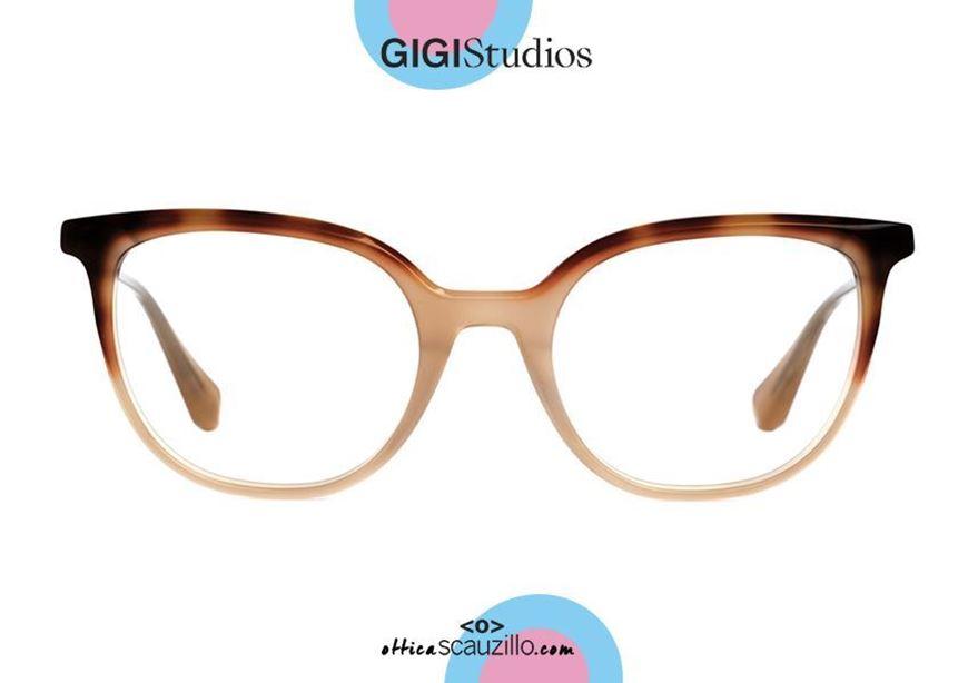 shop online Round pointed eyeglasses GIGI Studios GRETA 6472 brown otticascauzillo.com acquisto online nuovo Occhiale da vista tondo a punta GIGI Studios GRETA 6472/8 marrone