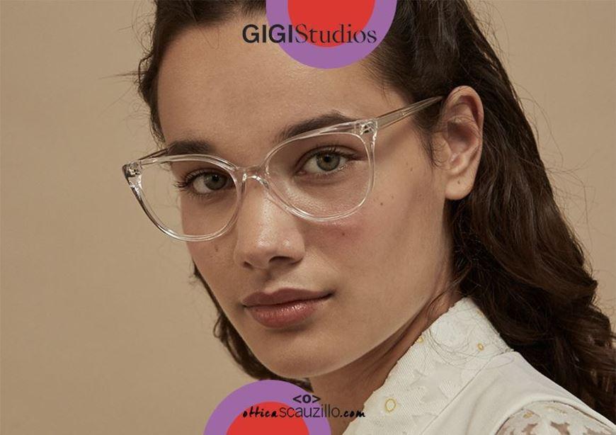 shop online Pointed eyeglasses cat eye GIGI Studios ORNELLA 6469 transparent otticascauzillo.com acquisto online Occhiale da vista a punta cat eye GIGI Studios ORNELLA 6469/8 trasparente