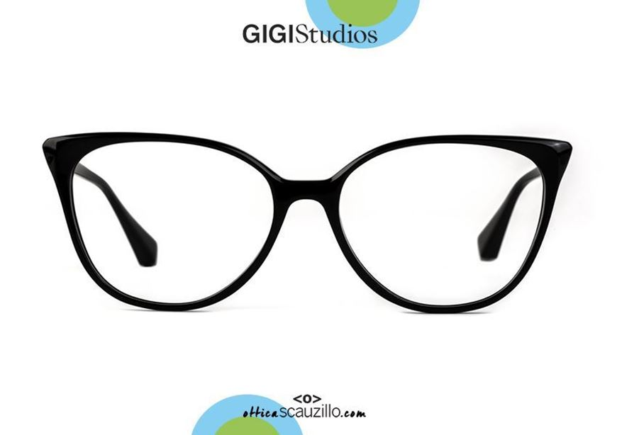 shop online Pointed eyeglasses cat eye GIGI Studios ORNELLA 6469 black otticascauzillo.com acquisto online Occhiale da vista a punta cat eye GIGI Studios ORNELLA 6469/1 nero