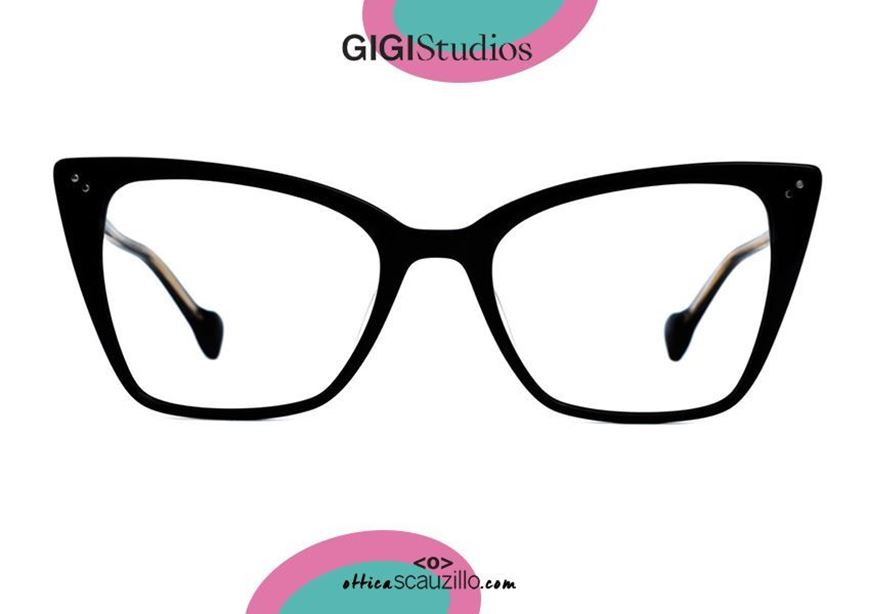 shop online Square pointed eyeglasses cat eye GIGI Studios MARINA 8052 black otticascauzillo.com acquisto online Occhiale da vista squadrato a punta cat eye GIGI Studios MARINA 8052/1 nero