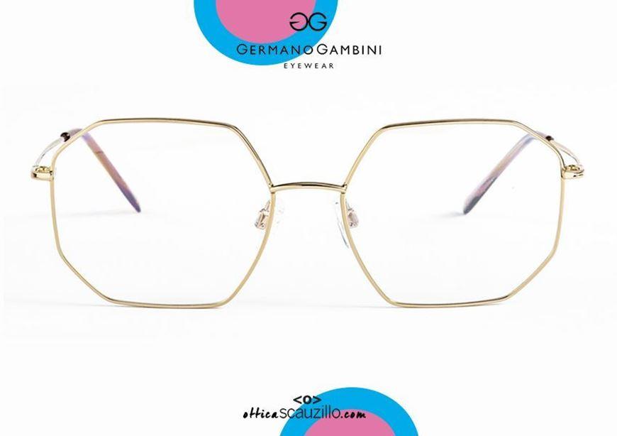 shop online new Irregular metal eyeglasses Germano Gambini GG137 GOLD on otticascauzillo.com acquisto online nuovo Occhiale da vista metallo irregolare Germano Gambini GG137 ORO
