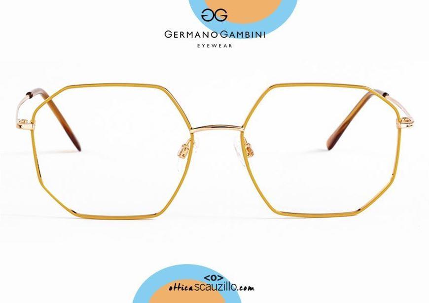 shop online nw Germano Gambini GG137 O1GI3 gold and saffron yellow irregular metal eyeglasses otticascauzillo.com acquisto online nuovo Occhiale da vista metallo irregolare Germano Gambini GG137 O1GI3 oro e giallo zafferano