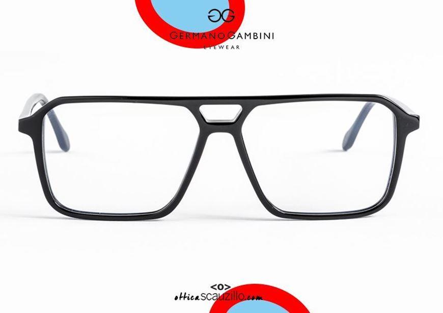 shop online Germano Gambini GG134 N black double bridge square acetate eyeglasses otticascauzillo.com acquisto online nuovo Occhiale da vista in acetato squadrato doppio ponte Germano Gambini GG134 N nero
