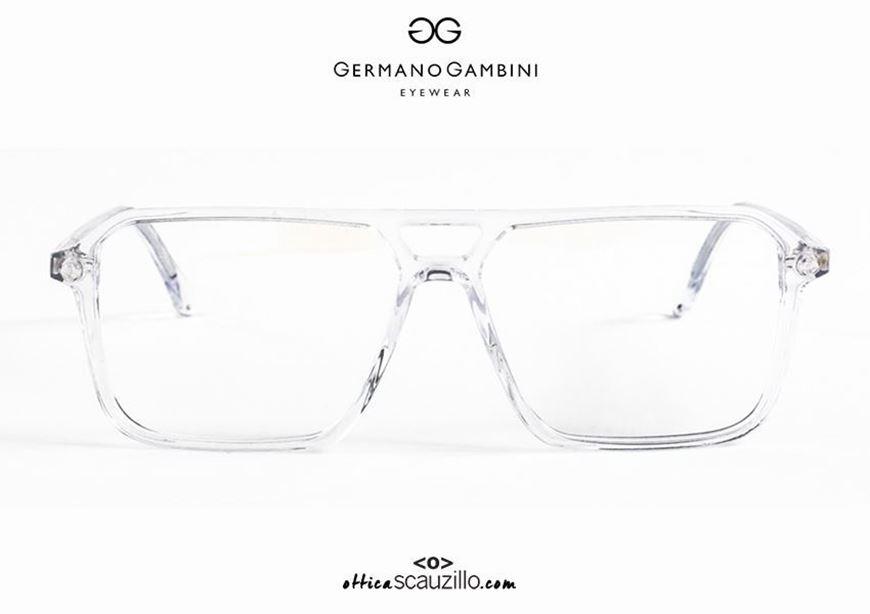 shop online new Germano Gambini GG134 CR transparent double bridge square acetate eyeglasses otticascauzillo.com acquisto online nuovo Occhiale da vista in acetato squadrato doppio ponte Germano Gambini GG134 CR trasparente