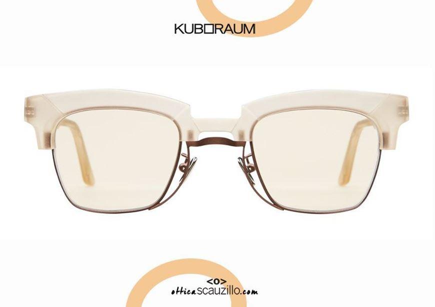 shop online New sunglasses KUBORAUM Mask N6 ricetea satin otticascauzillo.com acquisto online Nuovo occhiale da sole KUBORAUM Mask N6 ricetea satinato acetato e metallo sotto stile wayfarer