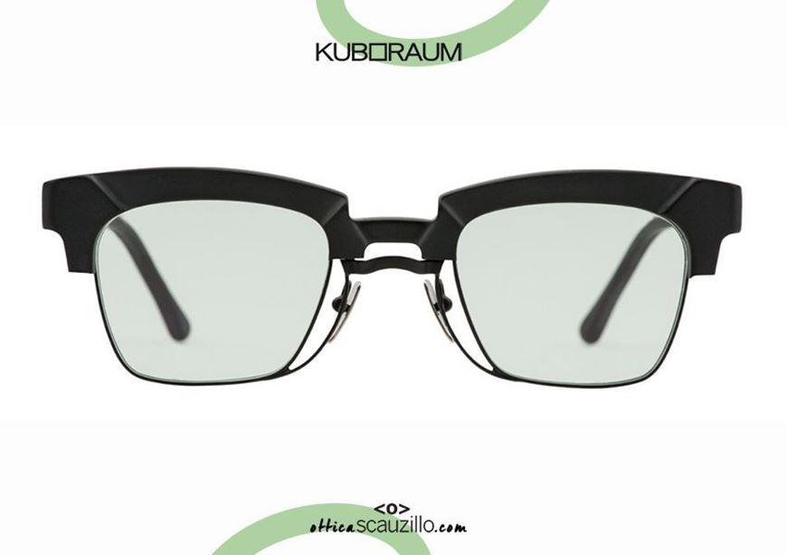 shop online New KUBORAUM Mask N6 black sunglasses acetate and metal under otticascauzillo.com acquisto online Nuovo occhiale da sole KUBORAUM Mask N6 nero acetato e metallo sotto stile clubmaster