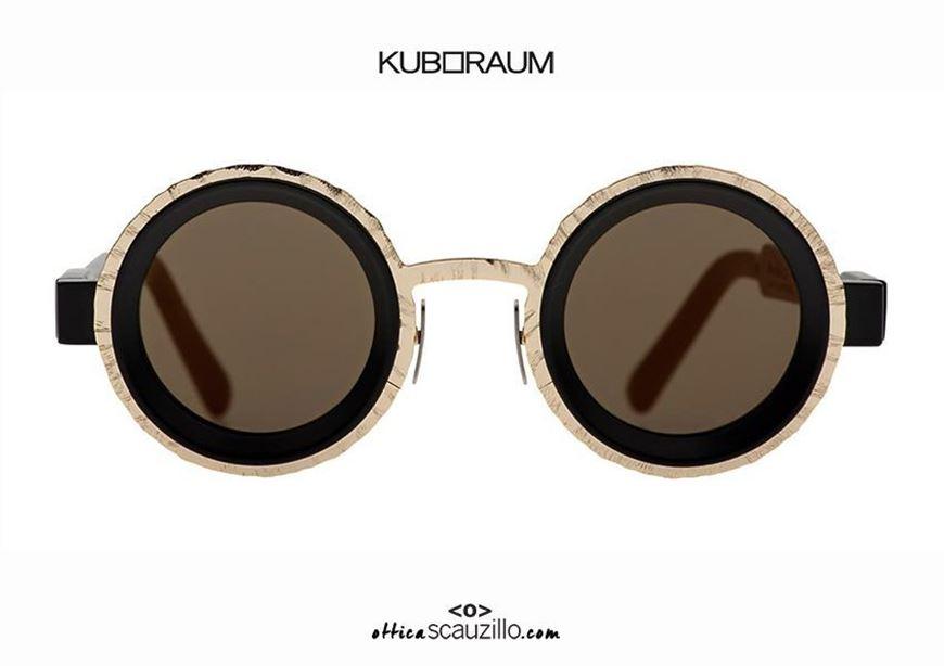 shop online New round sunglasses KUBORAUM Mask Z3 gold and black otticascauzillo.com acquisto online Nuovo occhiale da sole tondo KUBORAUM Mask Z3 oro e nero