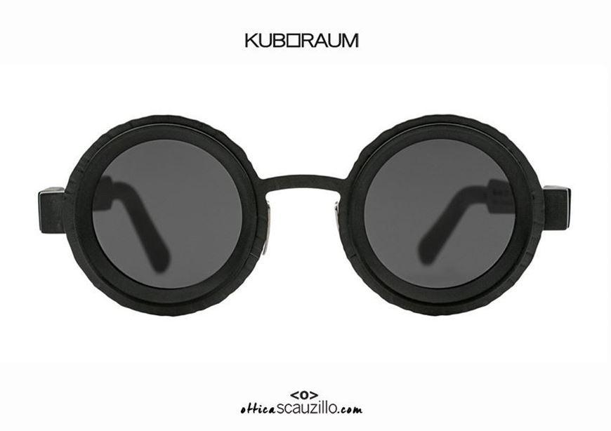 shop online New round sunglasses KUBORAUMNuovo occhiale da sole tondo KUBORAUM Mask Z3 tutto nero Mask Z3 total black otticascauzillo.com acquisto online