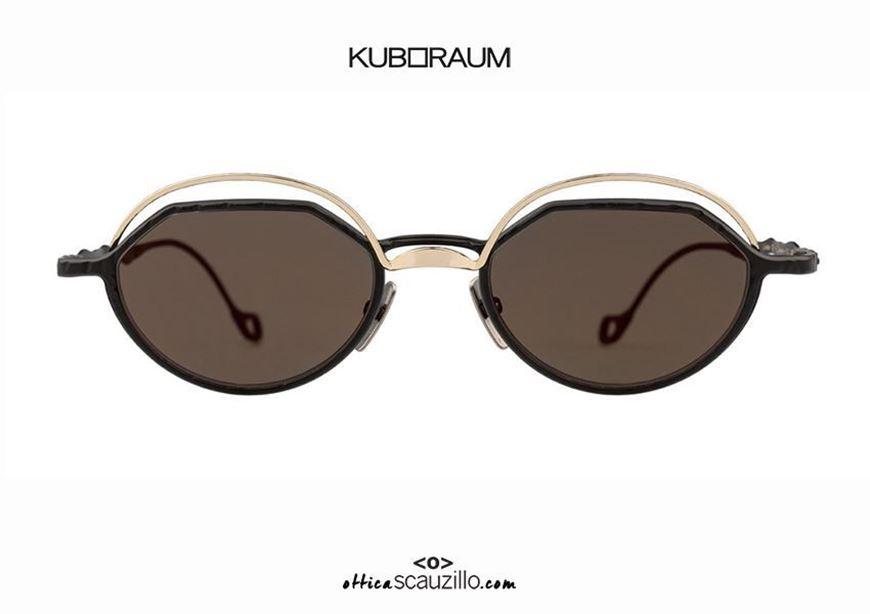 shop online New black and gold KUBORAUM Mask H70 round metal sunglasses otticascauzillo.com acquisto online Nuovo occhiale da sole in metallo tondo KUBORAUM Mask H70 nero e oro