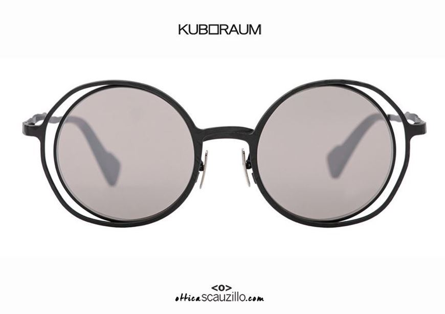 shop online New oversized round metal sunglasses KUBORAUM Mask H10 black otticascauzillo.com acquisto online Nuovo occhiale da sole in metallo tondo oversize KUBORAUM Mask H10 nero