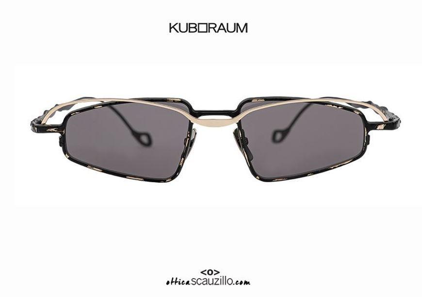 shop online New double bridge metal sunglasses KUBORAUM Mask H73 gold and black otticascauzillo.com acquisto online Nuovo occhiale da sole in metallo doppio ponte KUBORAUM Mask H73 oro e nero
