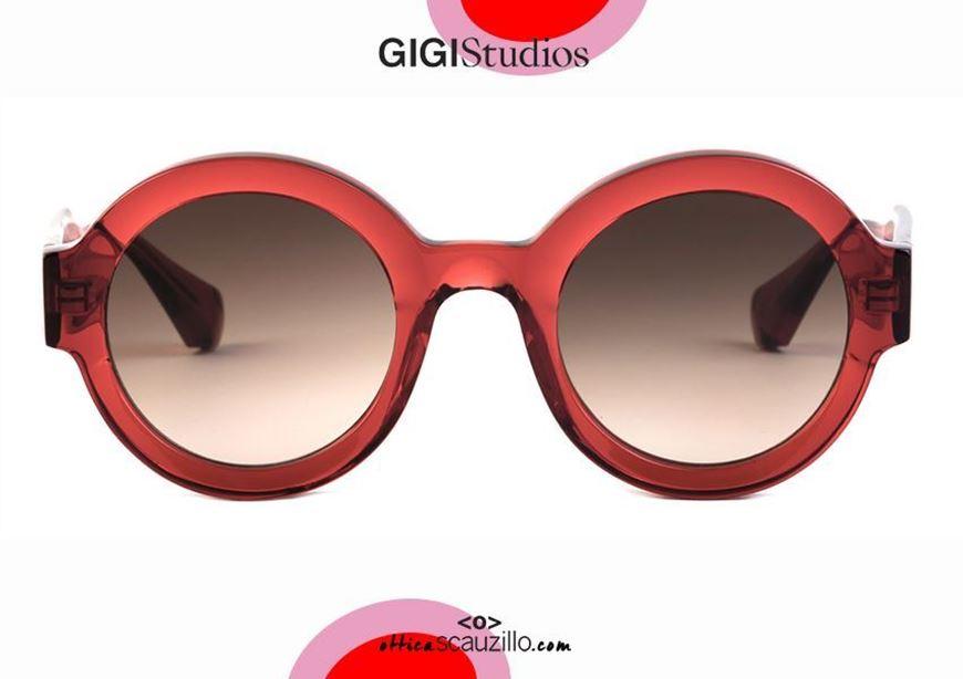 shop online New round sunglasses GIGI STUDIOS LAURA 6454 red otticascauzillo.com acquisto online Nuovo occhiale da sole tondo spesso GIGI STUDIOS LAURA 6454 rosso