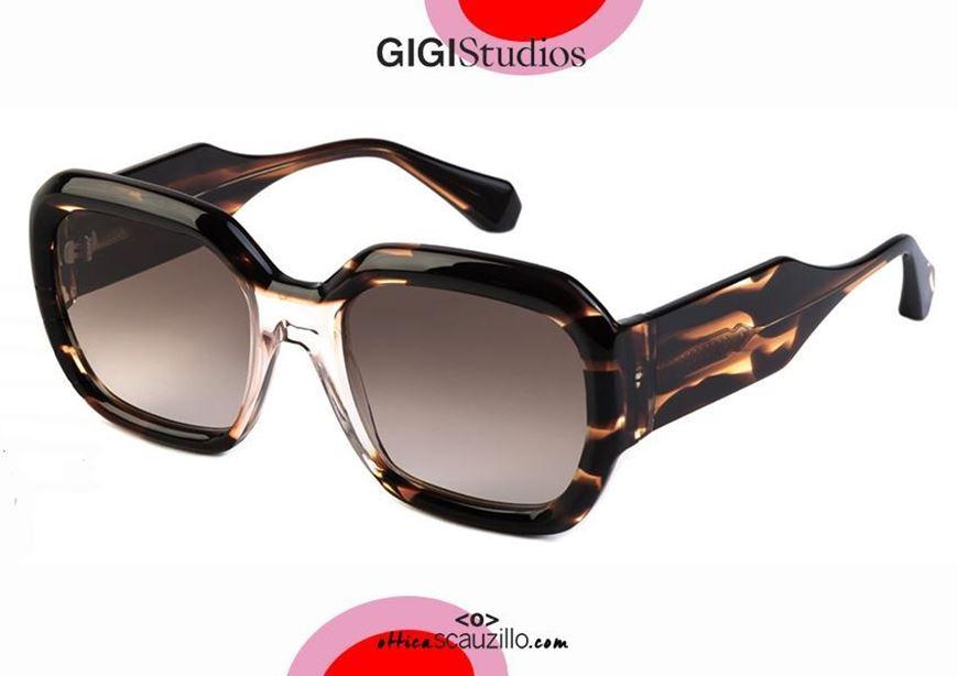 shop online new New bold oversized sunglasses GIGI STUDIOS LIZ 64539 brown otticascauzillo.com acquisto online Nuovo occhiale da sole oversize spesso GIGI STUDIOS LIZ 6453/9 marrone