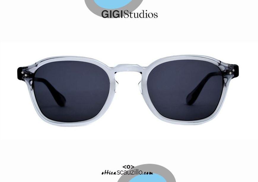 shop online New square sunglasses GIGI STUDIOS JARED 64838 transparent gray otticascauzillo.com acquisto online Nuovo occhiale da sole squadrato GIGI STUDIOS JARED 6483/8 grigio trasparente
