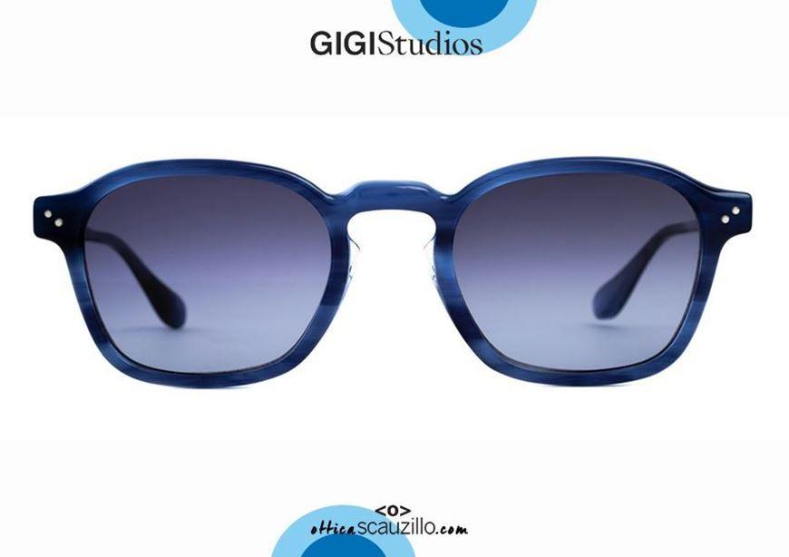shop online New square sunglasses GIGI STUDIOS JARED 6483 blue otticascauzillo.com acquisto online Nuovo occhiale da sole squadrato GIGI STUDIOS JARED 6483/3 blu