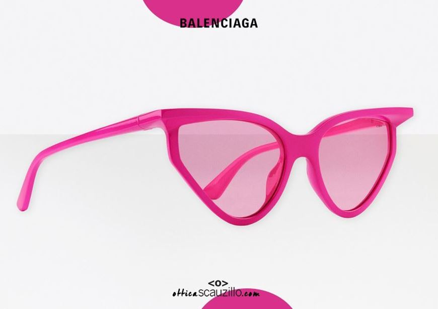 shop online New Balenciaga BB0101S col. 003 pink cat eye sunglasses otticascauzillo.com acquisto online Nuovo occhiale da sole cat eye 3D Balenciaga BB0101S col.003 rosa