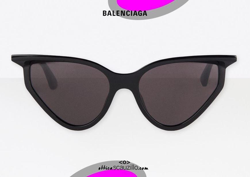 shop online New Balenciaga BB0101S col. 001 black cat eye sunglasses otticascauzillo.com acquisto online Nuovo occhiale da sole cat eye 3D Balenciaga BB0101S col.001 nero