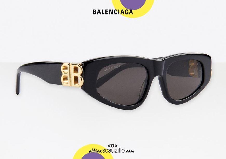 shop online New cat eye sunglasses with BB logo Balenciaga BB0095S Dynasty col. 001 black otticascauzillo.com acquisto online Nuovo occhiale da sole cat eye con logo BB Balenciaga BB0095S Dynasty col.001 nero