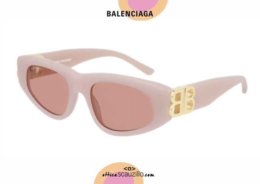 shop online New cat eye sunglasses BB logo Balenciaga BB0095S Dynasty col. 003 pink otticascauzillo.com acquisto online Nuovo occhiale da sole cat eye con logo BB Balenciaga BB0095S Dynasty col.003 rosa