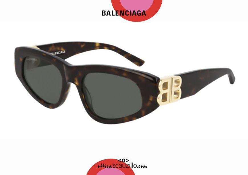 shop online New cat eye sunglasses BB logo Balenciaga BB0095S Dynasty col. 002 havana otticascauzillo.com acquisito online Nuovo occhiale da sole cat eye con logo BB Balenciaga BB0095S Dynasty col.002 havana