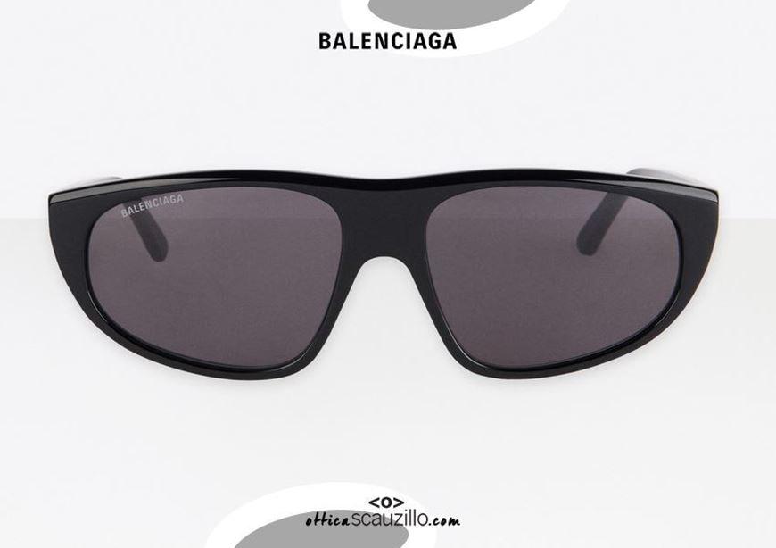 shop online New flat top sunglasses Balenciaga BB0098S TV D-FRAME col. 001 black otticascauzillo.com acquisto online Nuovo occhiale da sole flat top Balenciaga BB0098S TV D-FRAME col.001 nero