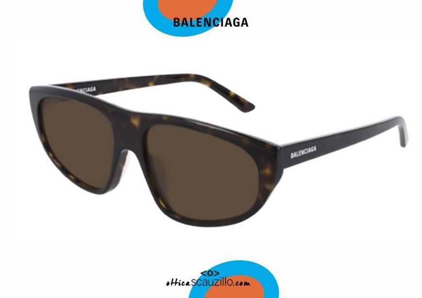 shop online New flat top sunglasses Balenciaga BB0098S TV D-FRAME col. 002 havana otticascauzillo.com acquisto online Nuovo occhiale da sole flat top Balenciaga BB0098S TV D-FRAME col.002 havana