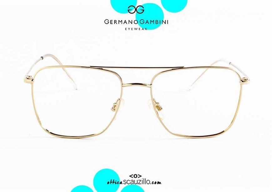 shop online Double bridge metal square eyeglasses i Leggeri Germano Gambini GG89 Gold on otticascauzillo.com acquisto online nuovo Occhiale da vista metallo squadrato doppio ponte i Leggeri Germano Gambini GG89 Oro