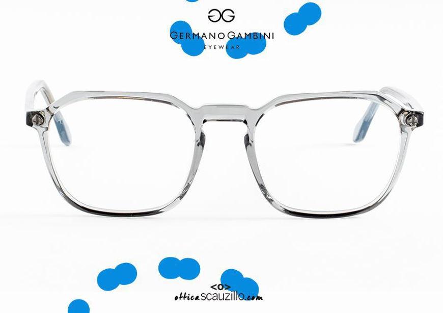 shop online I Leggeri Germano Gambini GG126 transparent gray square eyeglasses otticascauzillo.com acquisto online nuovo Occhiale da vista quadrato i Leggeri Germano Gambini GG126 grigio trasparente