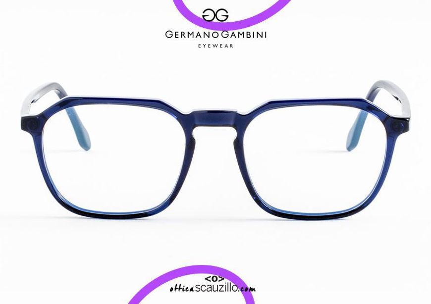 shop onlineI Leggeri Germano Gambini GG126 blue square eyeglasses otticascauzillo.com acquisto online Occhiale da vista quadrato i Leggeri Germano Gambini GG126 blu