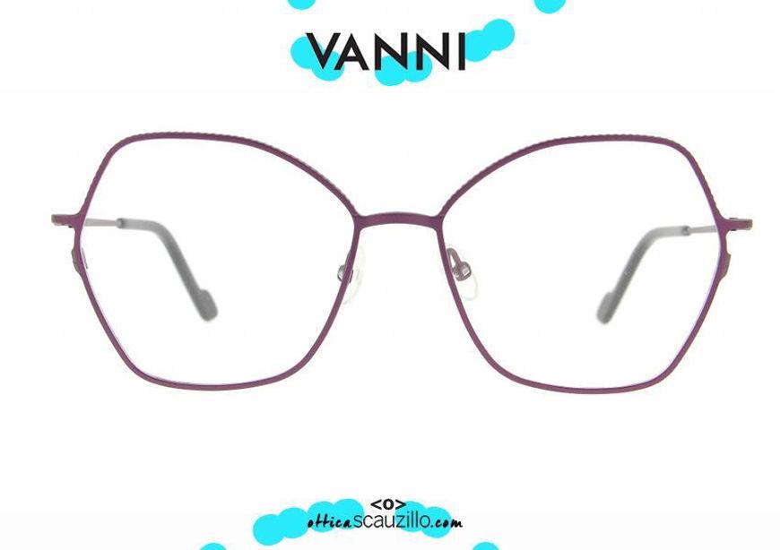 shop online Pointed metal eyeglasses VANNI V4192 C.385 purple otticascauzillo.com acquisto online nuovo Occhiale da vista in metallo a punta VANNI V4192 C.385 viola