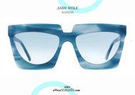 shop online new New oversized square sunglasses Andy Wolf mod. ADELE col. C blue otticascauzillo.com acquisto online nuovo Occhiale da sole squadrato oversize Andy Wolf mod. ADELE col.C azzurro