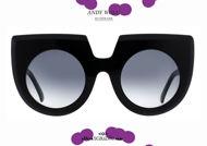 shop online newRound cat eye oversize sunglasses Andy Wolf mod. DAPHNE col.A black on otticascauzillo.com acquisto online nuovo Occhiale da sole tondo a punta oversize Andy Wolf mod. DAPHNE col.A nero