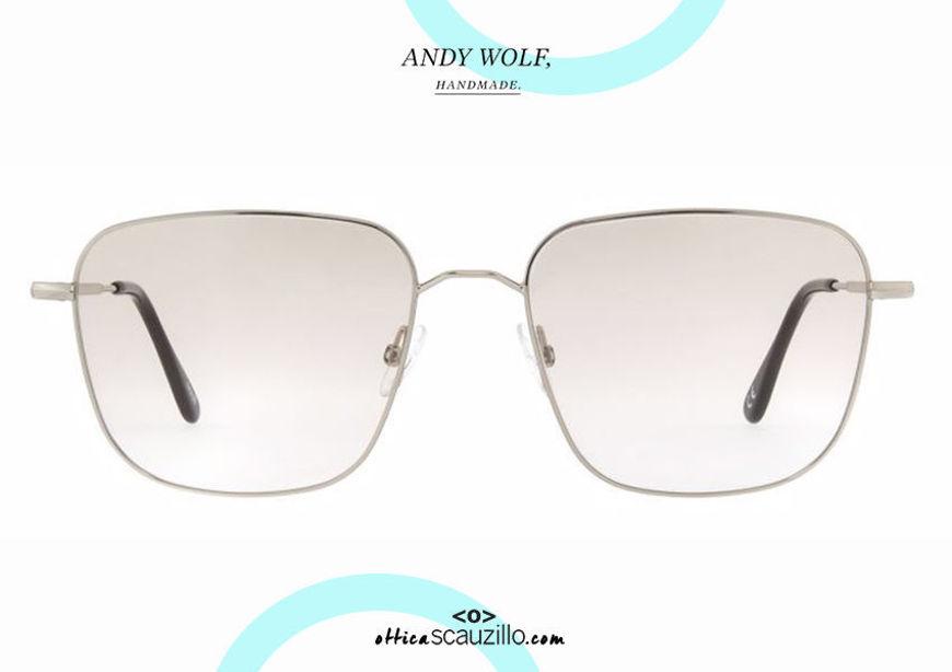 shop online new Andy Wolf square metal eyeglasses mod. 4742 col.A silver otticascauzillo.com acquisto online nuovo Occhiale da vista metallo quadrato Andy Wolf mod. 4742 col.A argento